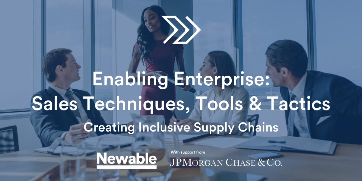 Enabling Enterprise: Sales Techniques Tools & Tactics