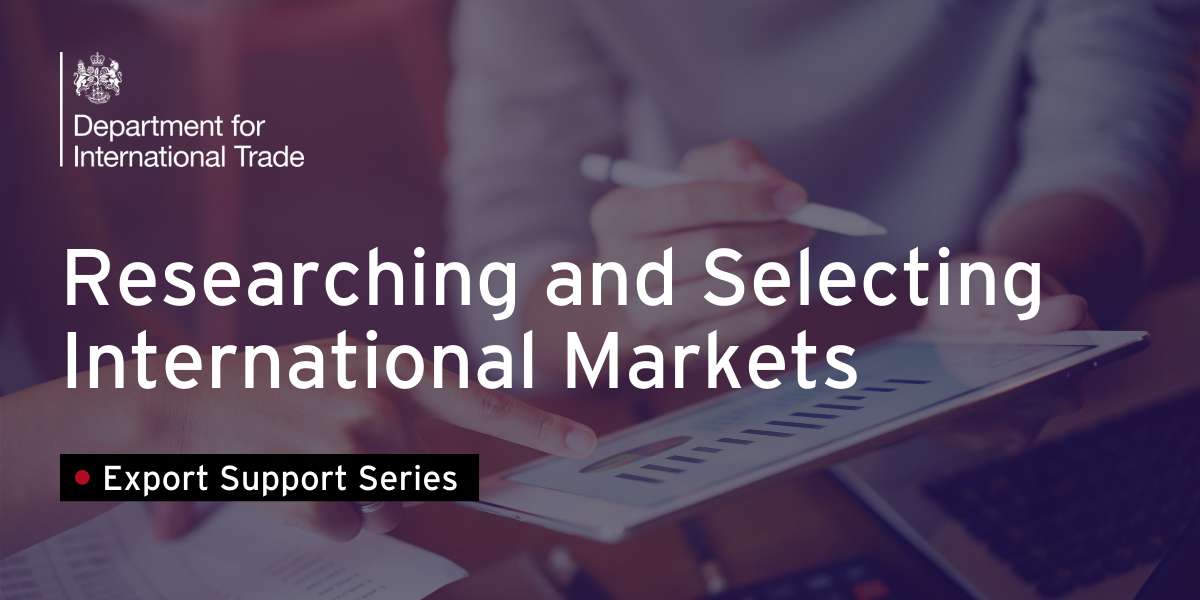Researching and Selecting International Markets